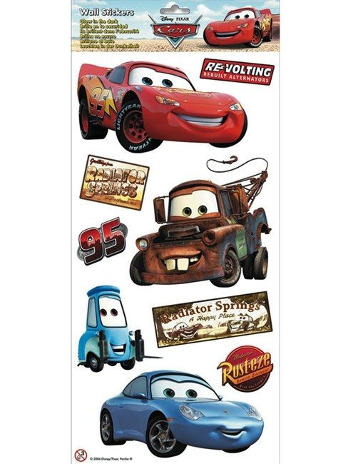 Disney   Cars/Bilar Självlysande Wallies Wall Stickers Part 68