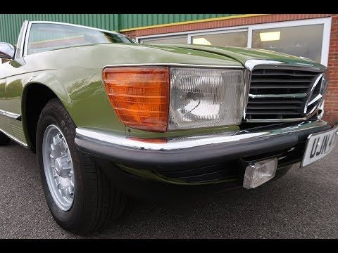 1980 Mercedes SL Class SL R107 450SL 2dr Auto in Cactus Green For Sale at www.woldsideclassics.co.uk