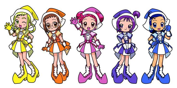 Tags: Fanart, Ojamajo DoReMi, Harukaze Doremi, Senoo Aiko, Fujiwara Hazuki, Segawa Onpu, Asuka Momoko, Pixiv, kimco