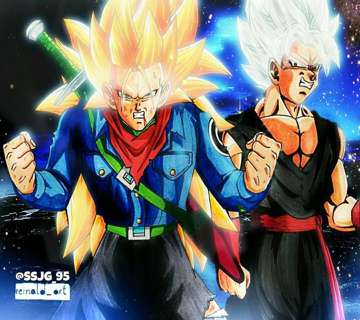 """@reinald_art 's depiction of SSJ3 Future Trunks and """"Black Goku"""" edited. This is by far the best example of what an evil Goku would most likely look like. Be sure to follow him for more amazing artwork just like this one!! ______________________________ #db#dbz#dbs#dragonball#dragonballz#dragonballsuper#dbsuper#goku#kakarot#songoku#gohan#songohan#goten#songoten#vegeta#Otaku#Japan#trunks#krillin#tien#frieza#Epic#manga#amv#beerus#whis#anime#l4l#like4like#doubletap by devilzsmile.com…"""