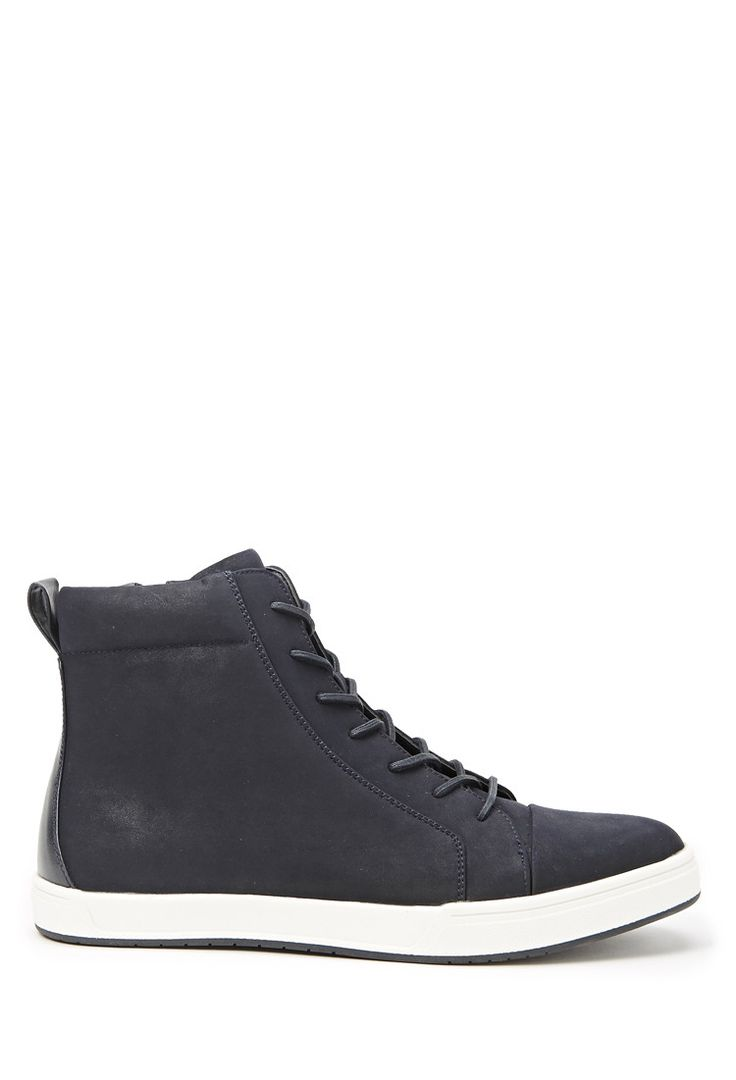 Faux Leather High-Tops - New Arrivals - 2000162596 - Forever 21 UK