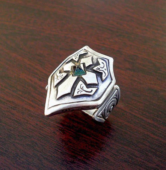 Mens cross ringSterling silver mens ringCrusader ringmens