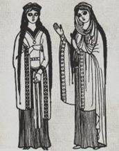 Мужской английский костюм раннего средневековья