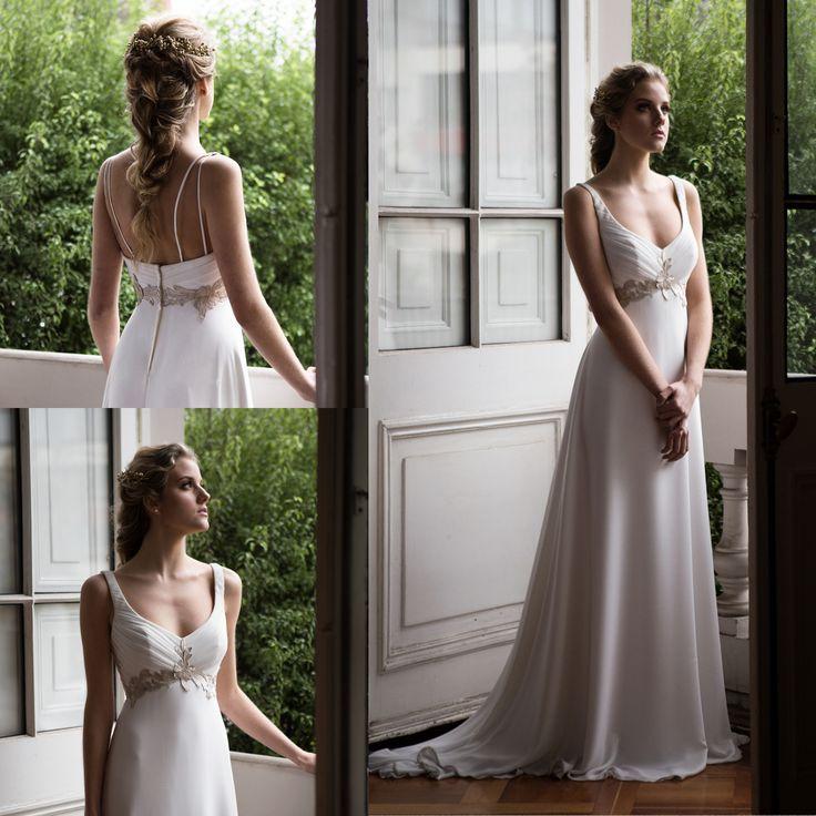 vestido de novia griego corte imperio · Greek empire court wedding dress - www.santoencanto.cl/vestidos-de-novia/