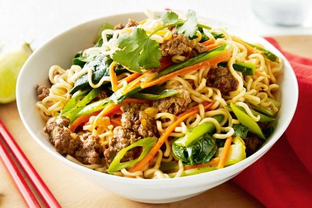 For a quick after-work meal throw together this flavoursome red curry beef and noodle stir-fry.