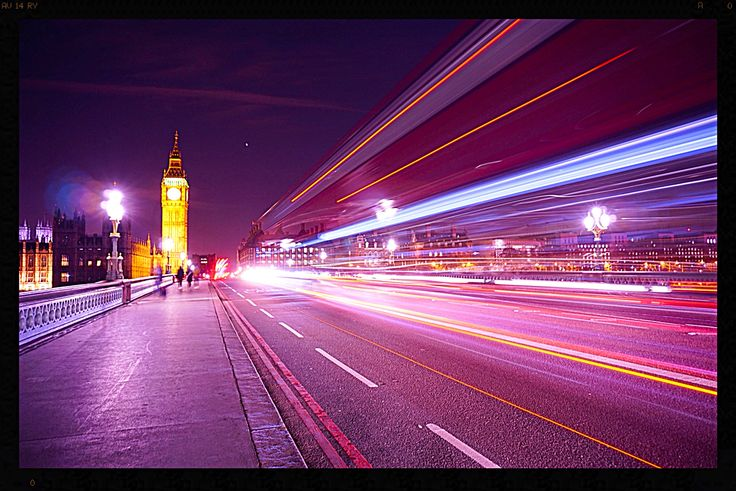 Love London Embankment. Big Ben. London Eye. Traffic. High Exposure.