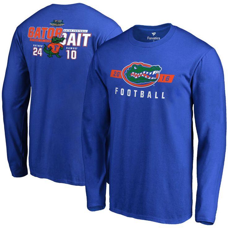 Florida Gators vs. Georgia Bulldogs 2016 Score Long Sleeve T-Shirt - Royal