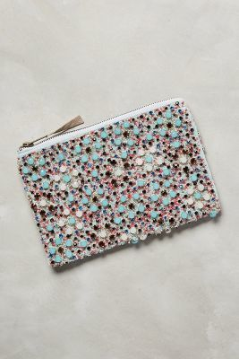Anthropologie Delphinium Dot Beaded Pouch #anthrofave