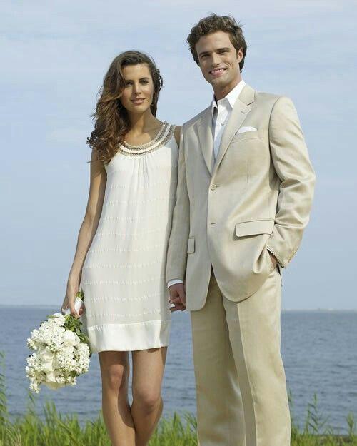Casual Beach Wedding Groom Suit Ideas