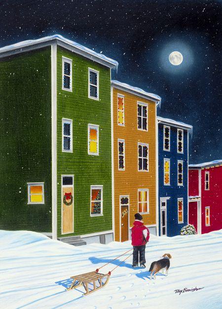 "Newfoundland Art - Troy Birmingham Art Gallery: ""Heading Home"""