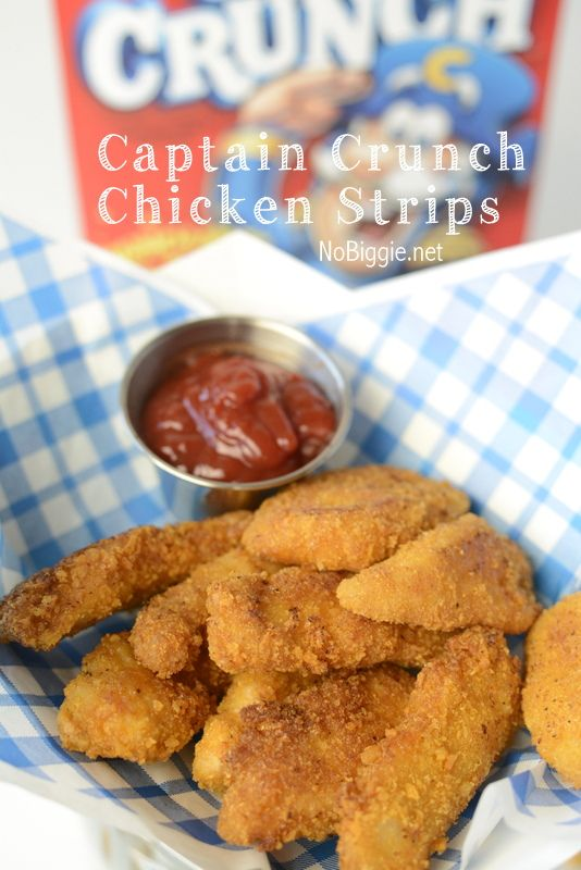 Captain Crunch Chicken Strips   NoBiggie.net   where salty meets sweet, these are sooo good!