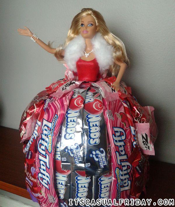 How To Make Your Own Barbie Candy Dress Cake | itscasualfridaydotcom