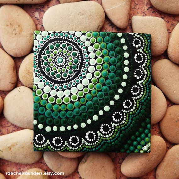 Forest Aboriginal Art Dot Painting acrylic by RaechelSaunders