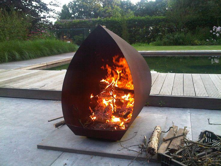 Cortenstaal buitenhaard, fire pit