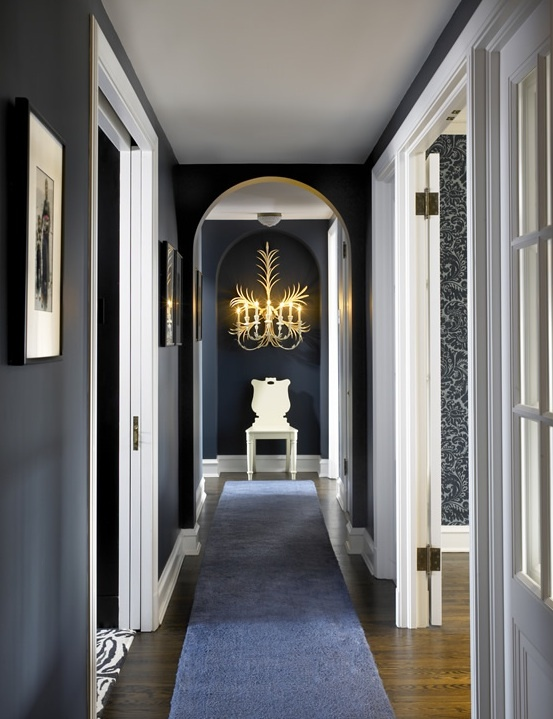 GEORGICA POND: Decorating with Navy Walls