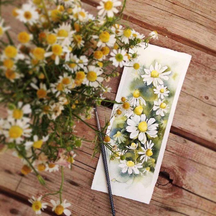 Sanatlı Bi Blog Çiçekleri Suluboya ile Resmeden Sanatçıdan İlham Verici 20 Çalışma 21