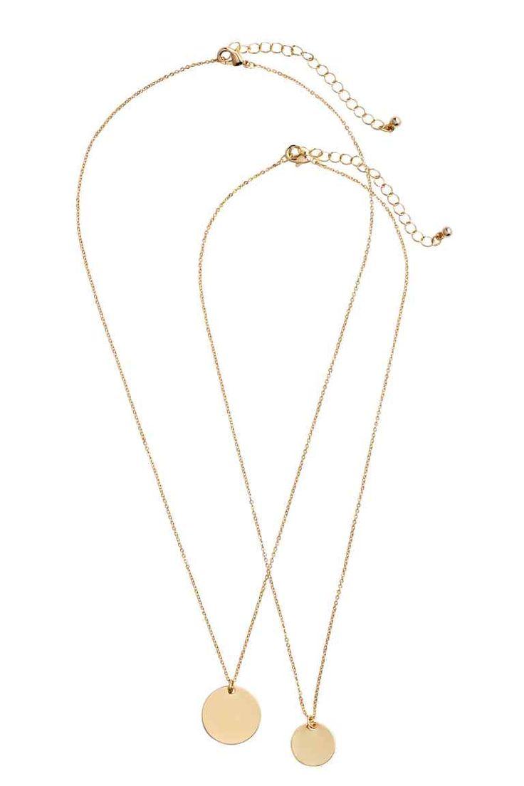2 kpl kaulakoruja - Kulta - Ladies | H&M FI 1