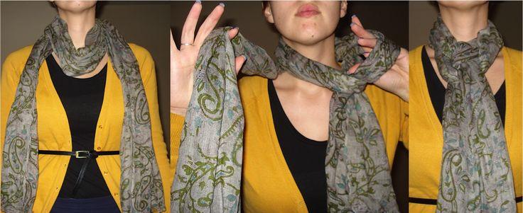 Manieren om een sjaal te knopen