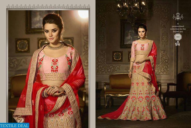 Shop Now Zikkra Royal Touch Heavy Bridal Lehenga Choli at Wholesale Rate  #BridalCollection #TextileDeal #BridalLehenga #LehengaCholi #Choli