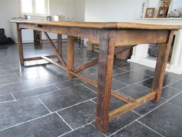 Antieke oude franse tafel boerentafel in eik - Marktgigant