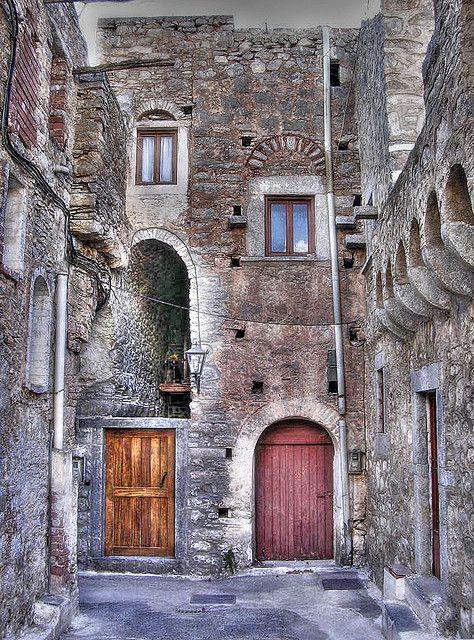 Mesta, a mediaval village in Chios, Greece