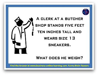 Brain teasers and answers set 2 number 9. Answer on the webpage.