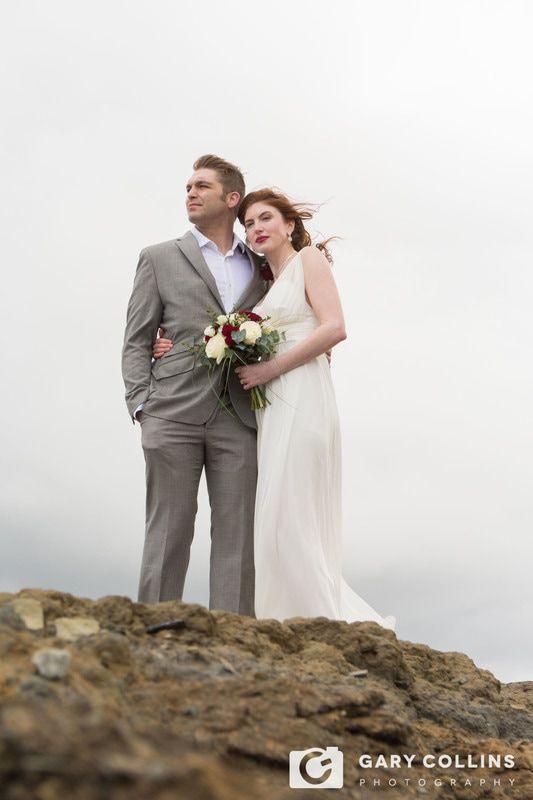 Wedding, Photography, Clare, Doolin, Wild Atlantic Way, Elopement, Intimate, Ceremony, Humanist, Bride, Groom, Cliffs, Atlantic Ocean, The Burren, Couple, Dress, Suit, Hair, Flowers