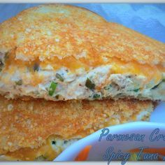 Parmesan Crusted Spicy Tuna Melt