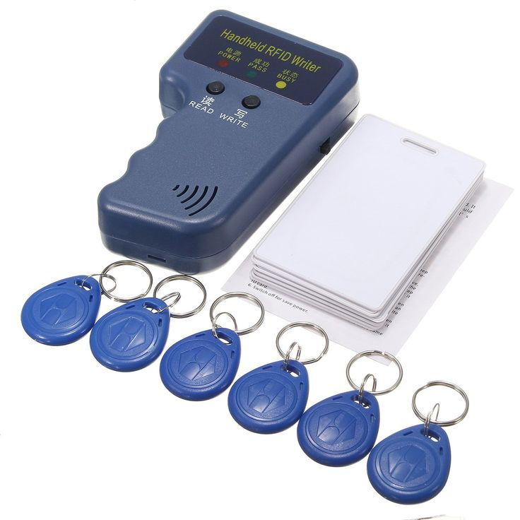 НОВЫЙ 13 Шт. 125 КГц Портативный RFID ID Копир Карты/Reader/Writer Дубликатор Programmer6 Шт Перезаписываемые Метки + 6 Шт. Карты