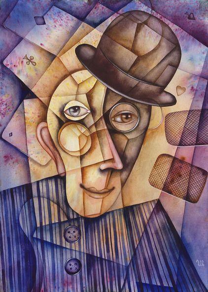 Two Cards by Eugene Ivanov, watercolor on paper, 29 X 41 cm, $250. #eugeneivanov #@eugene_1_ivanov #modern #original #oil #watercolor #painting #sale #art_for_sale #original_art_for_sale #modern_art_for_sale #canvas_art_for_sale #art_for_sale_artworks #art_for_sale_water_colors #art_for_sale_artist #art_for_sale_eugene_ivanov