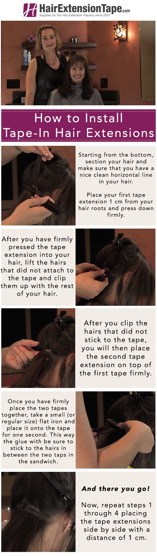 84 best hair blogs images on pinterest hair extensions how to install tape in hair extensions pmusecretfo Images
