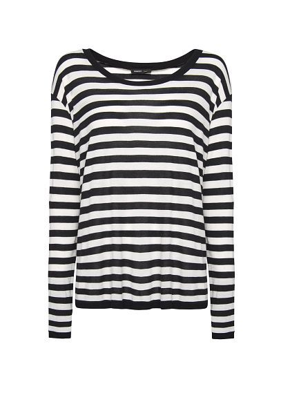 MANGO - Oversized striped t-shirt