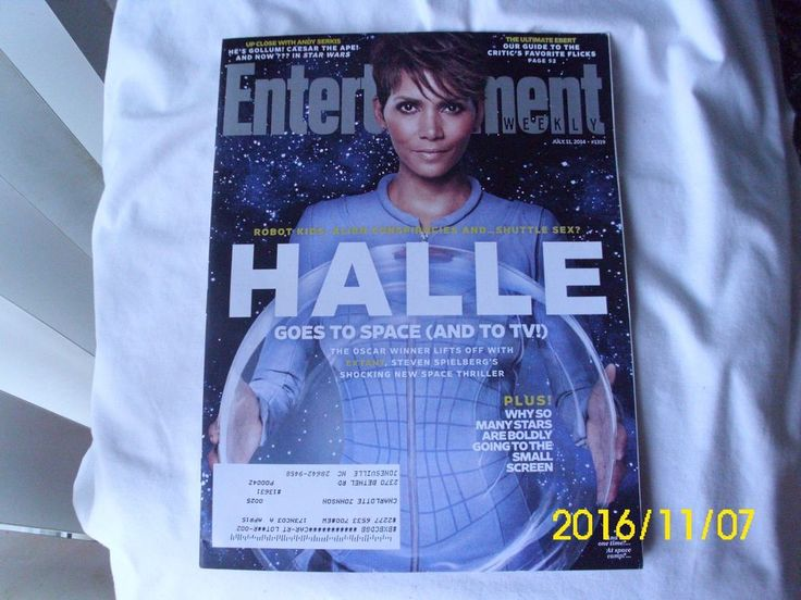 Entertainment Weekly Magazine Extant Halle Berry Andy Serkis Jason Segal C Diaz