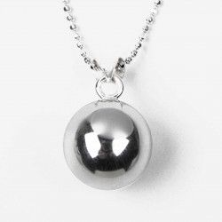 Childrens Chiming Ball Necklace #christening #kids #jewellery