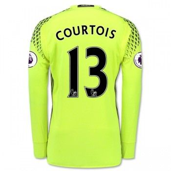 Chelsea 16-17 Målvakt Thibaut Courtois 13 Hemmatröja Långärmad  #Fotbollströjor