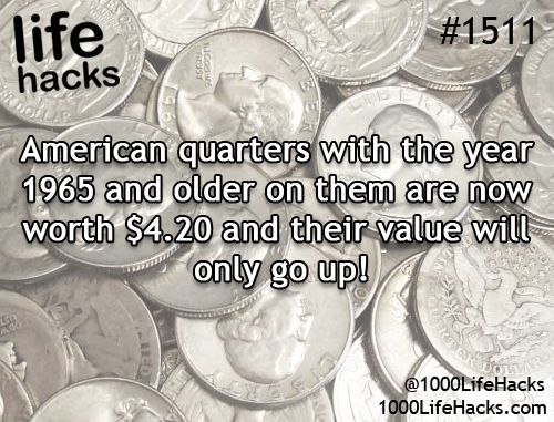 Hang on to quarters from 1965 and older!