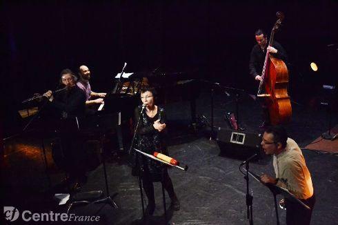 Yannick Le Goff, Stéphane Binet, Brigitte Jacquot, Thierry Leu, Alexandre Chabbat, rayonnants dans leur jazz. - Gamard Lou