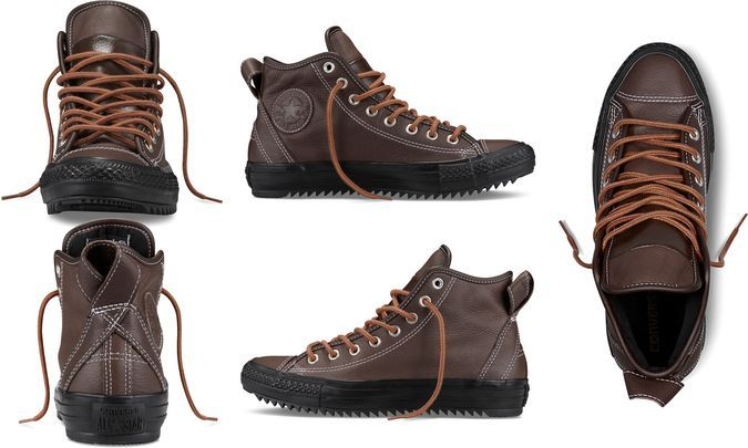 Converse Chuck Taylor All Star Thinsulate Hollis - Brown Winter Boots - Front, Back, Side, Top View