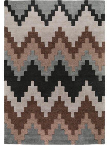 Wollteppich Matrix Cuzzo Braun #benuta #teppich #chevron #interior #rug