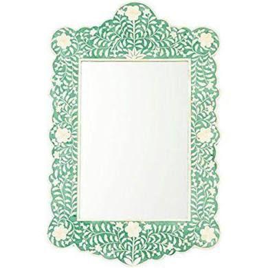 Bone Inlay Mirror Frame Green Handmade Inlay Furniture Bone Inlay ...