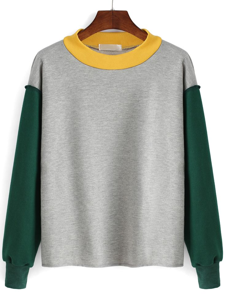 Color-block Round Neck Sweatshirt 17.33 These are so cute :((((