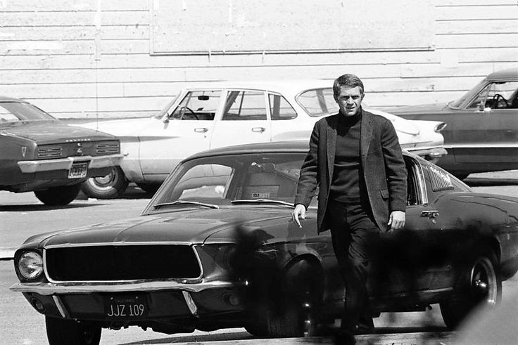 "frenchcurious: ""Steve McQueen dans Bullitt 1968 - source When Hollywood was ""Golden"" """