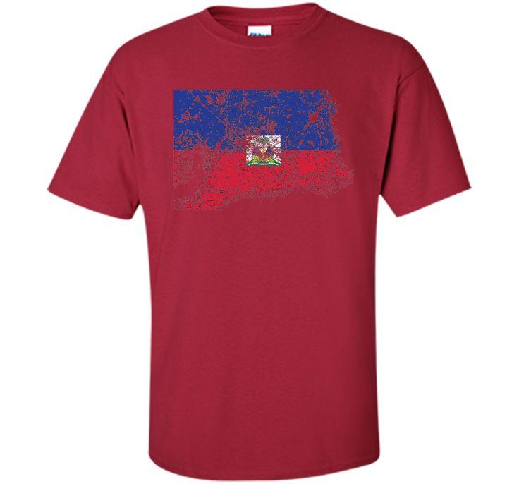 Distressed Beat Up Haitian Flag Vintage Haiti T-Shirt