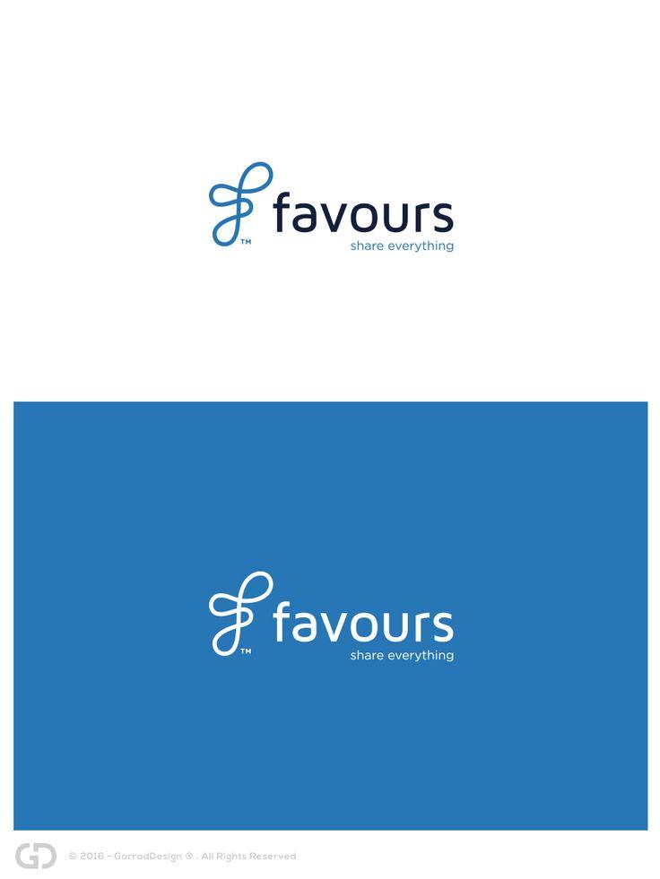Logo Design by garrad for Favours, a sharing economy start-up #monogram #logos #design #DesignCrowd