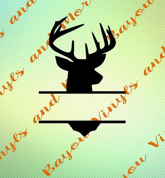 Split deer head svg Deer svg Deer Head Split Monogram Svg Silhouette Silhouette file Cricut cutting file Split Svg Fathers Day Svg