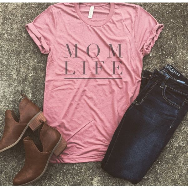 Mom Life Shirt Pregnancy Announcement Shirt Mom Life Pregnant Shirt... (€23) ❤ liked on Polyvore featuring tops, grey, tanks, women's clothing, unisex shirts, grey top, short sleeve tops, shirt top and unisex tops