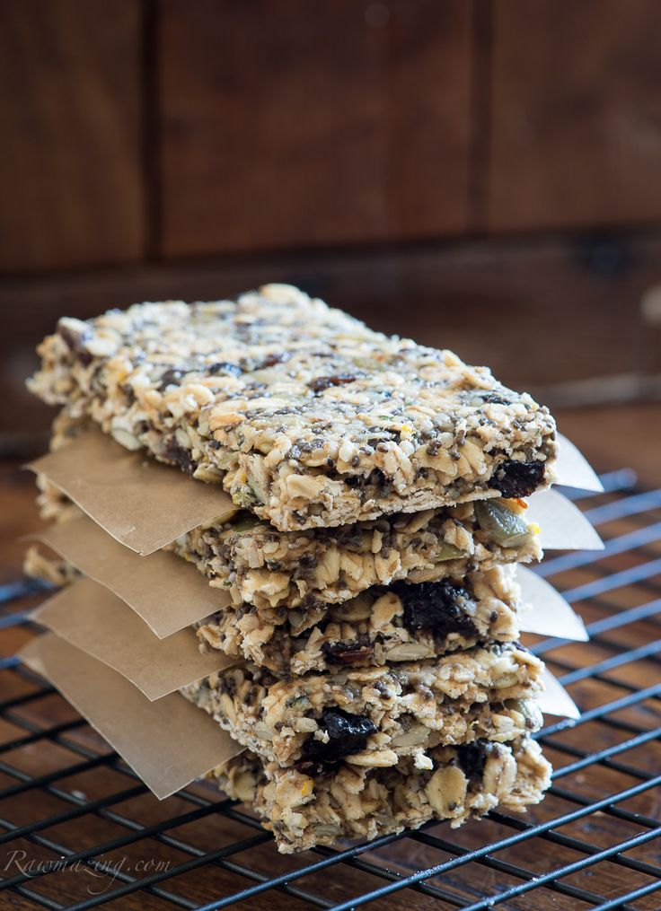 Raw Energy Bars @Susan Powers.com:  These Orange Cinnamon energy bars are great as is or frosted with Orange Cacao Butter frosting.