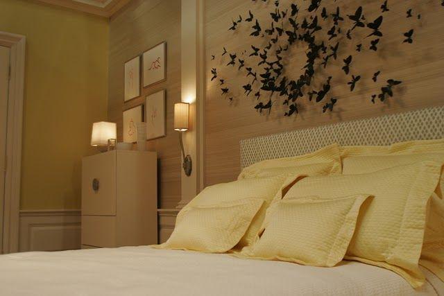 La déco dans la série Gossip Girl by MyHomeDesign Chambre de Serena Waldorf - tête de lit oiseaux : phantomatique
