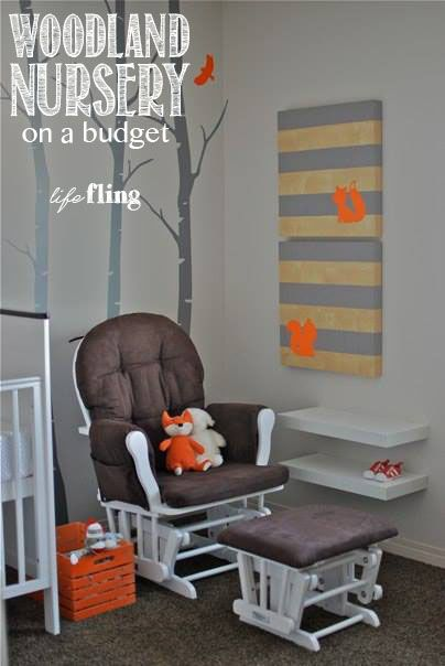 Orange And Gray Woodland Nursery