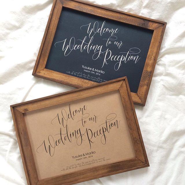 フレームに入れておしゃれに♪チョークボード・黒板を使ったウェルカムボードまとめ一覧♪スタイリッシュな結婚式に参考にしてみてください♪